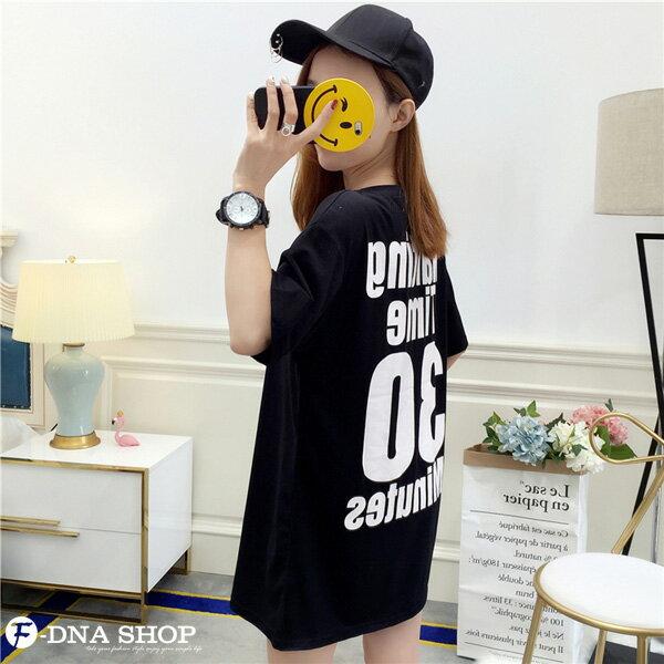 F-DNA★Waiting前後印字長版上衣圓領短袖T恤(3色-M-2XL)【ET12711】 4