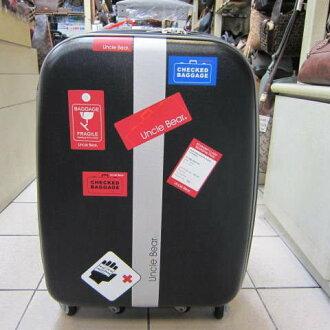 ~雪黛屋~熊熊叔叔-旅行貼紙 18吋拉桿行李箱 高科技特殊防護布料處理奈防水好保養UB1118 黑