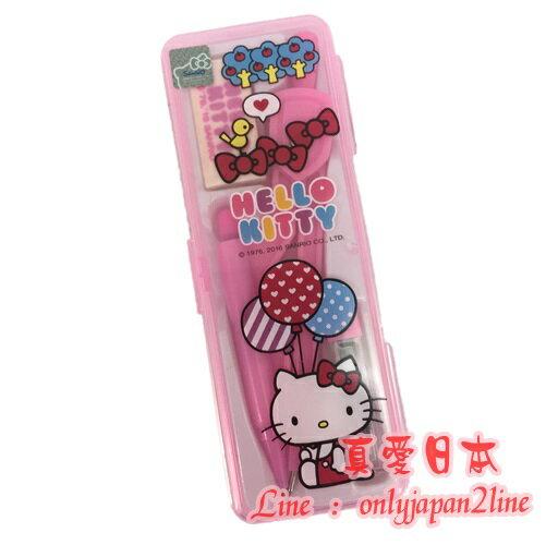 【真愛日本】16091000055PP盒裝圓規組-KT汽球粉    三麗鷗 Hello Kitty 凱蒂貓 文具用品 數學用具
