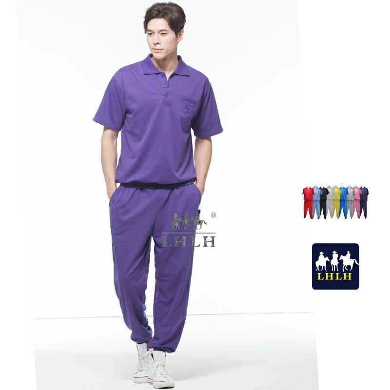深紫色 家居服 工作服套裝 運動服 睡衣 短袖 男 女 Polo衫 【現貨】