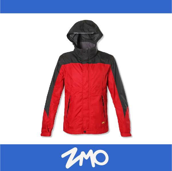 萬特戶外運動 ZMO JG343-RD 男戶外防風雨拆帽外套 透氣 防水 防風 紅色