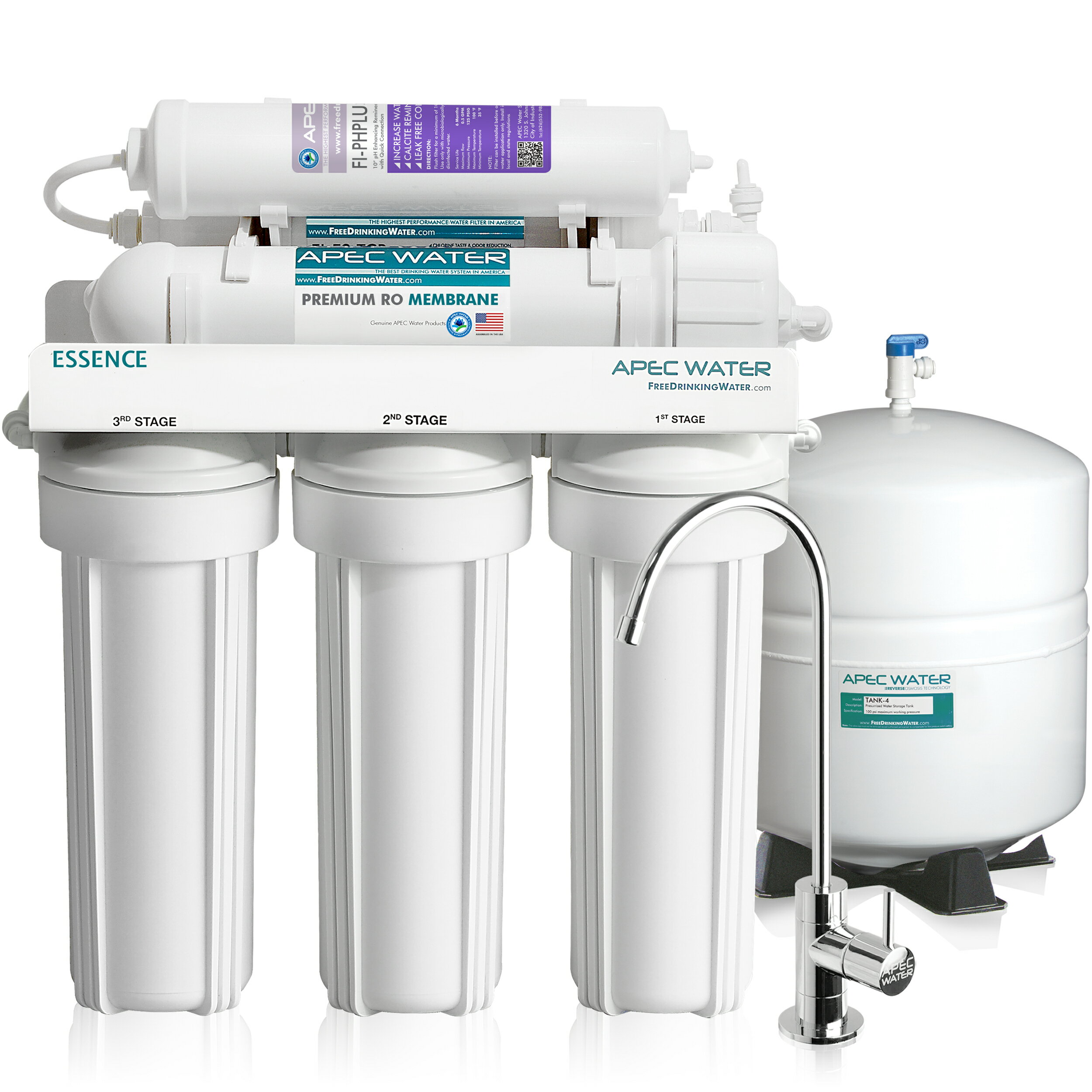 686b52d6738 APEC Top Tier Alkaline Mineral Ph+ Ultra Safe Reverse Osmosis Drinking  Water Filter System (ESSENCE