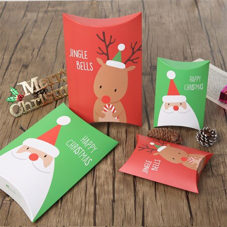 聖誕包裝盒 小款 圖案隨機出貨 紙盒 聖誕禮物 交換禮物 包裝 禮盒 禮物 聖誕節 護手霜 餅乾【N101719】