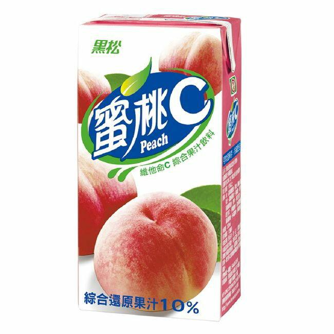 黑松 蜜桃C 維他命C綜合果汁飲料 300ml (24入)x3箱【康鄰超市】