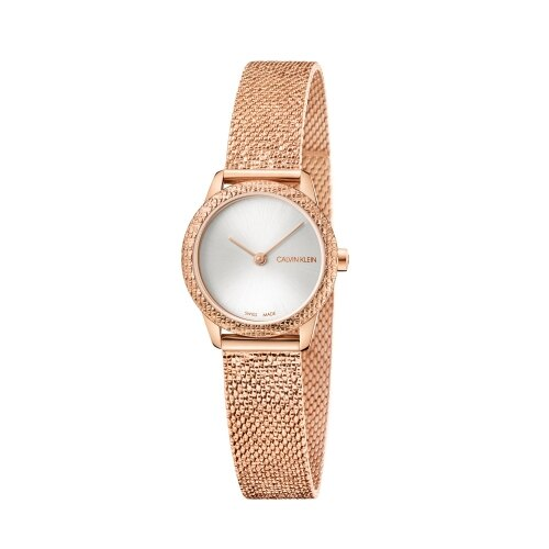Calvin Klein CK 優雅玫瑰金典雅腕錶(K3M23U26)24mm 618年中狂歡↘專櫃手錶全網最低