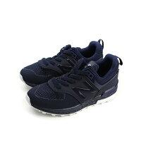 New Balance 美國慢跑鞋/跑步鞋推薦New Balance 574 運動鞋 復古鞋 深藍色 中童 童鞋 KFA5743P no303
