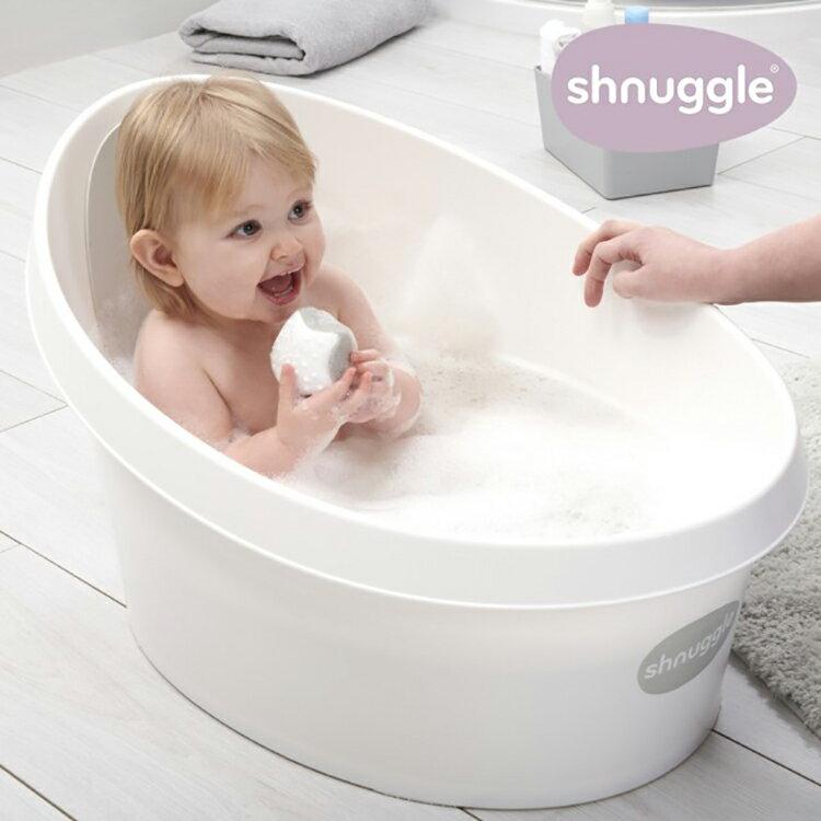 【一個人輕鬆幫寶寶洗澡】英國 Shnuggle 月亮浴盆/澡盆 MAX (台灣總代理公司貨) 星空粉