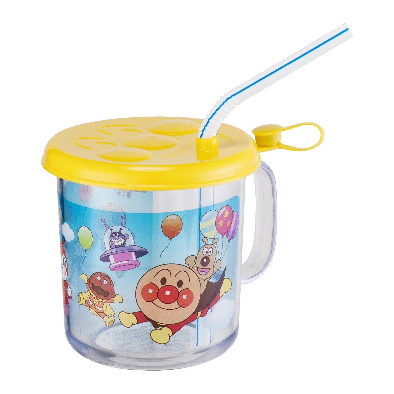 **雙子俏媽咪親子館** [日本] 麵包超人 Anpanman有蓋子吸管 學習杯 兒童水杯 漱口杯