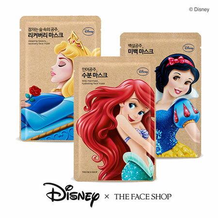 韓國 THE FACE SHOP 迪士尼聯名 公主面膜 25g 迪士尼公主 面膜 小美人魚 保濕 白雪公主 亮白 睡美人修護【B062535】