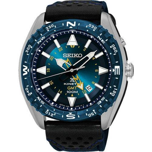 SEIKO 精工PROSPEX GMT 人動電能腕錶 藍  45mm  5M85~0AE0