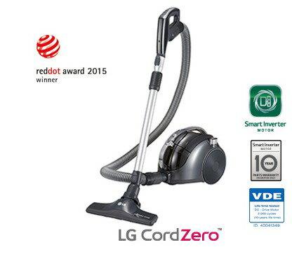 【福利出清】LG CORDZERO 圓筒式無線吸塵器 VC74070NCAQ 公司貨 馬達10年保固 VC-74070NCAQ