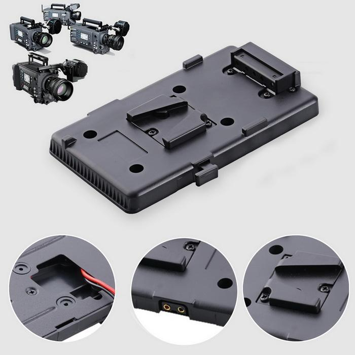 Battery Back Plate Adapter for DSLR Camera Sony V-Mount External Video Light 3