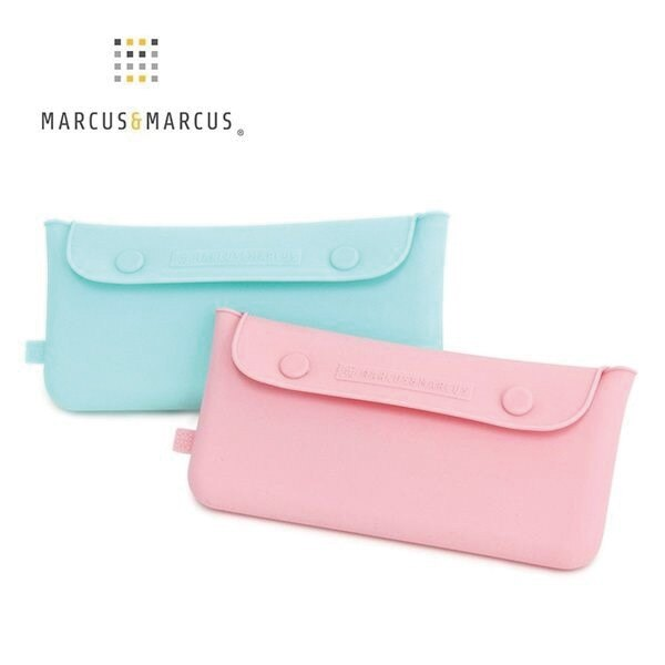加拿大 Marcus   Marcus 輕巧矽膠餐具收納袋 粉色 綠色 6132 好娃娃