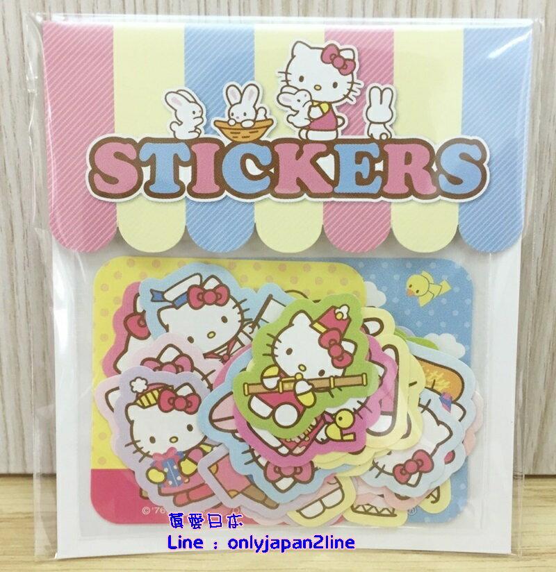 【真愛日本】16062900017日本製專賣店造型貼紙組-KT  三麗鷗 Hello Kitty 凱蒂貓   文具用品  裝飾貼紙