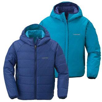 【鄉野情戶外專業】 mont-bell |日本| THERMALAND PARKA 雙面穿化纖外套/保暖外套/1101451 【兒童款130-150】