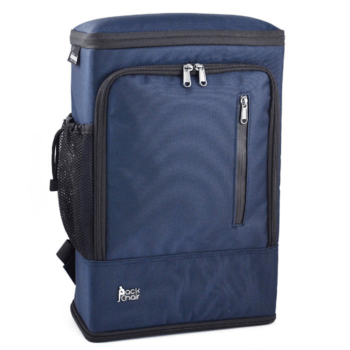PackChair椅子包 盾牌包 防身包 電腦包 後背包 自助旅行包 藍色有胸扣版 1