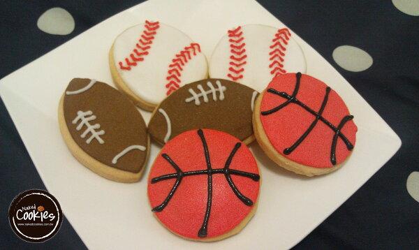 裸餅乾 Naked Cookies:【裸餅乾NakedCookies】運動主題-特殊客製6入-創意手工糖霜餅乾,婚禮生日活動收涎彌月
