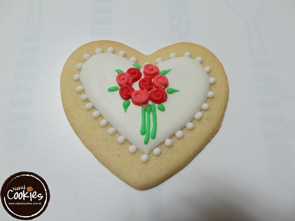 裸餅乾 Naked Cookies:【裸餅乾NakedCookies】情人節6入-創意手工糖霜餅乾,婚禮生日活動收涎彌月