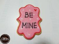 白色情人節禮物到【裸餅乾Naked Cookies】BE MINE情人節6入-創意手工糖霜餅乾,婚禮/生日/活動/收涎/彌月