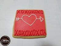 白色情人節禮物到【裸餅乾Naked Cookies】情人節6入-創意手工糖霜餅乾,婚禮/生日/活動/收涎/彌月