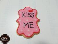 分享幸福的婚禮小物推薦喜糖_餅乾_伴手禮_糕點推薦【裸餅乾Naked Cookies】KISS ME情人節6入-創意手工糖霜餅乾,婚禮/生日/活動/收涎/彌月