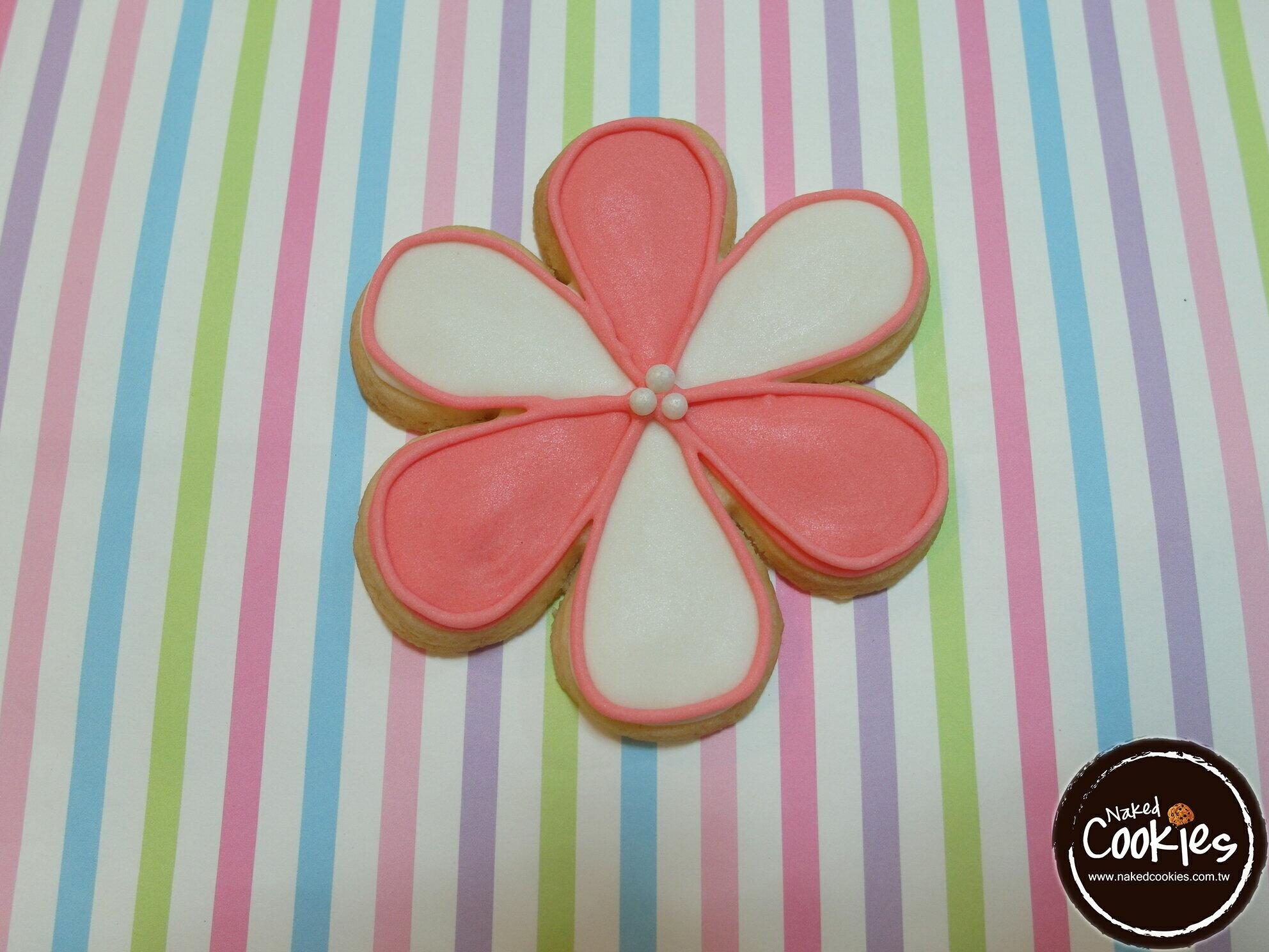 ~裸餅乾Naked Cookies~母親節小花6入~ 糖霜餅乾,婚禮  生日  活動  收