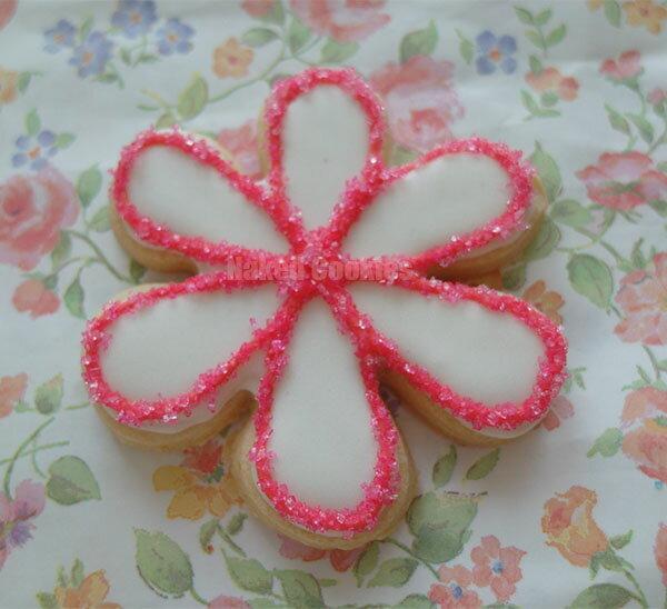 【裸餅乾Naked Cookies】水晶花朵(粉紅)-特殊客製6入-創意手工糖霜餅乾,婚禮/生日/活動/收涎/彌月