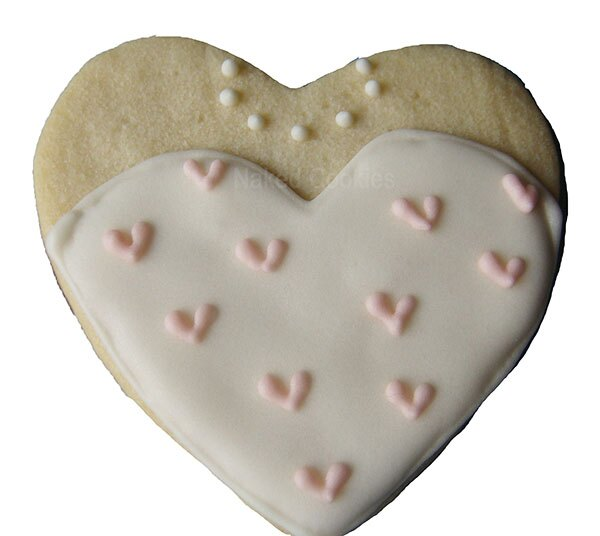 【Naked Cookies】婚禮愛心婚紗款-創意手工糖霜餅乾,婚禮/生日/活動/收涎/彌月