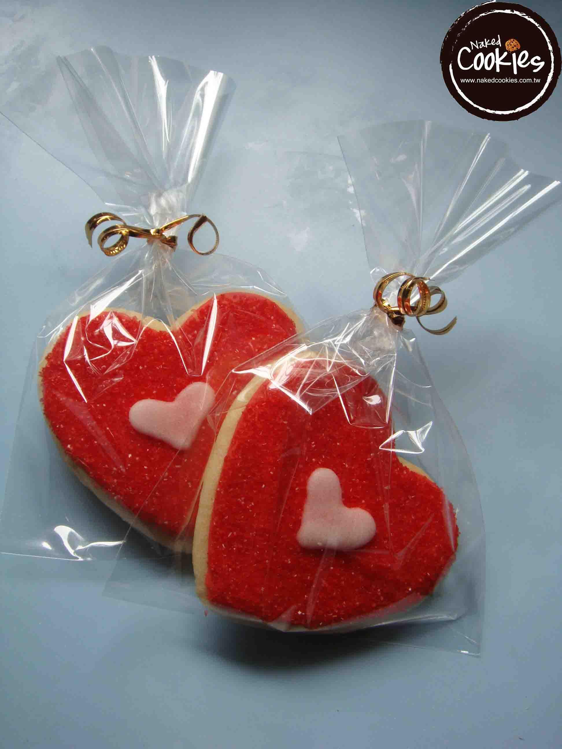 【Naked Cookies】婚禮紅心糖款-創意手工糖霜餅乾,婚禮/生日/活動/收涎/彌月