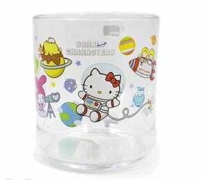X射線【C663734】Hello Kitty壓克力水杯(太空),開學必備/水杯/漱口杯/牙刷杯/Disney/生活用品/凱蒂貓