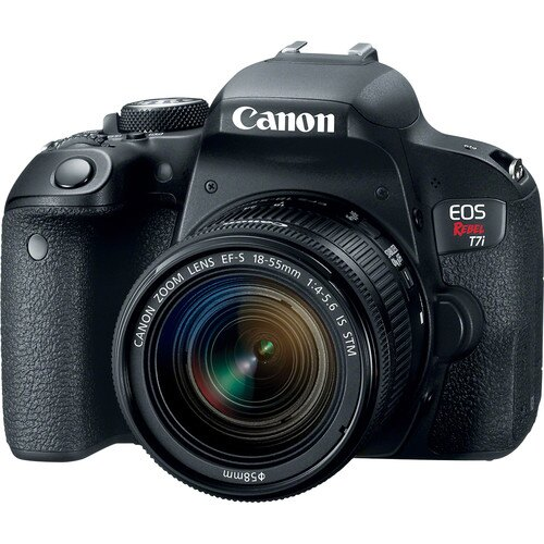 Canon EOS Rebel T7i DSLR Camera with 18-55mm Lens 0