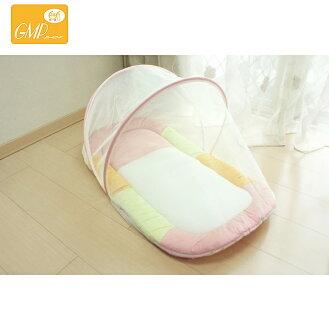 【安琪兒】【GMP BABY】寶寶專用蚊帳睡墊-粉/藍