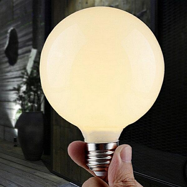 【威森家居】奶白龍珠燈泡 E27 LED 節能簡約現貨原木工業風現代簡約復古吸頂燈吊燈壁燈大廳客廳臥室陽台燈具LED設計師 L160408