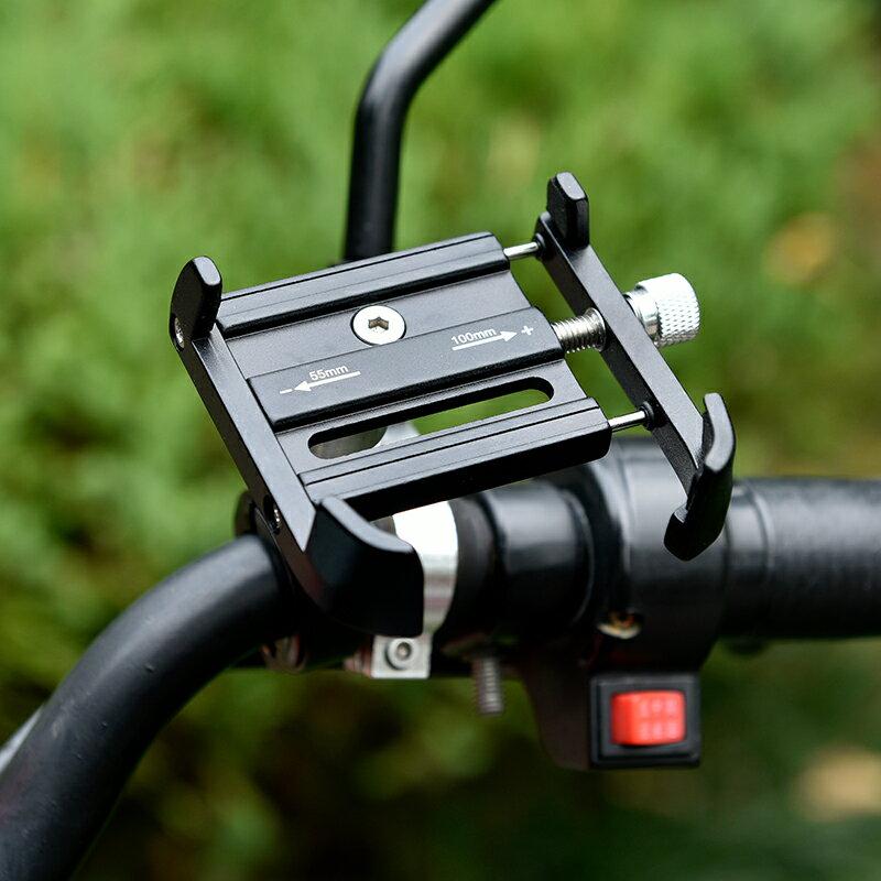 機車手機支架 摩托車手機導航支架鋁合金電動電瓶車外賣騎手自行車載支架手機架『CM41946』