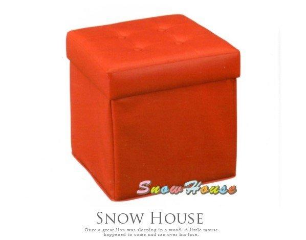 ╭~雪之屋居家 館~╯~ ~AA505~06 2156#熱情紅兩用收納箱 紅皮   沙發椅
