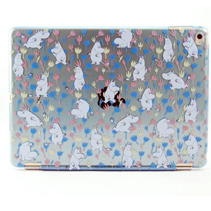 Moomin 嚕嚕米正版授權 -【 Moomin精靈(藍) 】:《 iPad Mini/Air/Pro 》水晶殼+Smart Cover(磁桿)