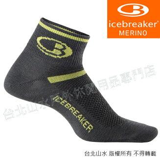 Icebreaker 短筒輕薄毛圈多功能運動襪/羊毛襪/排汗襪/低筒襪/美麗諾羊毛 男款IB101483 M64 黑黃