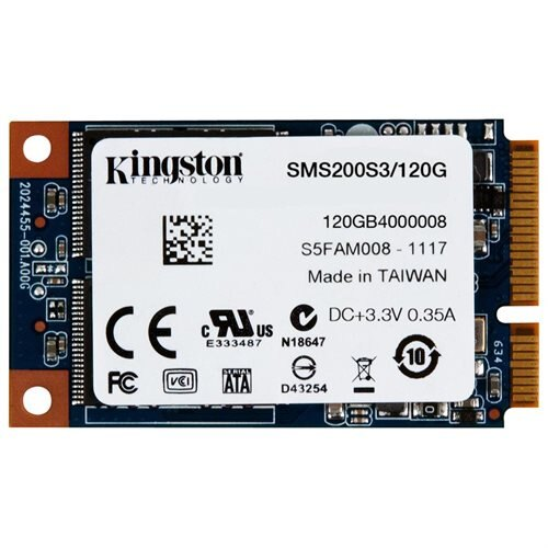 Kingston SSDNow mS200 120 GB Internal Solid State Drive - mini-SATA - 550 MB/s Maximum Read Transfer Rate - 520 MB/s Maximum Write Transfer Rate