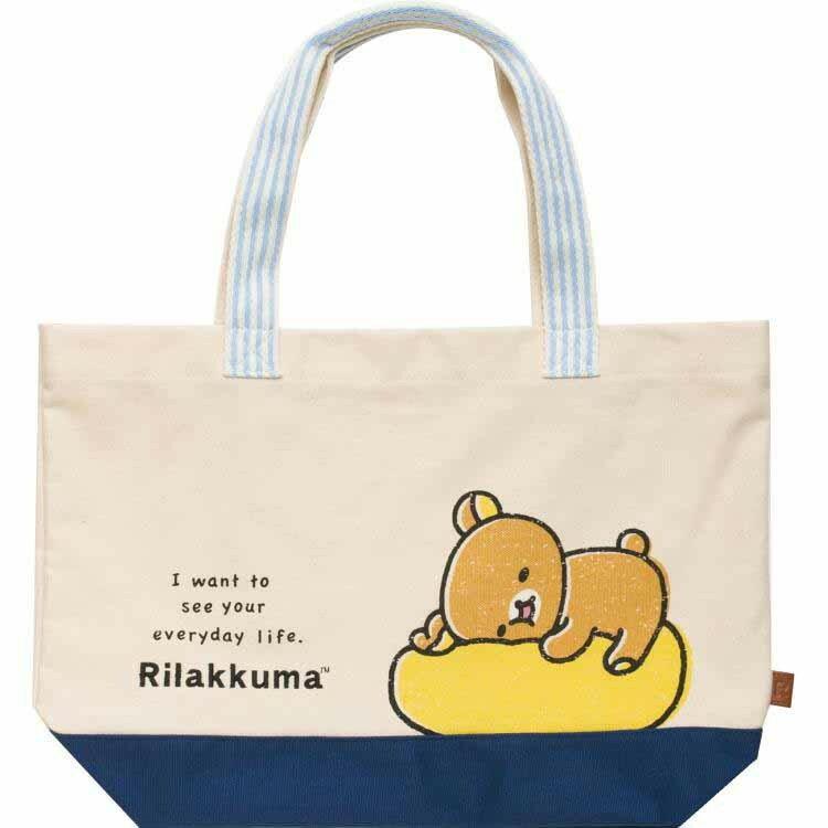 日本進口 San-X 拉拉熊 帆布包/手提包/大容量包包/肩背包 《 正版 Rilakkuma 》 ★ 夢想家 Zakka\