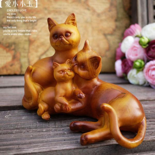 【奧格-貓咪組合】樹脂擺件趣味時尚工藝品創意家居飾品結婚禮物