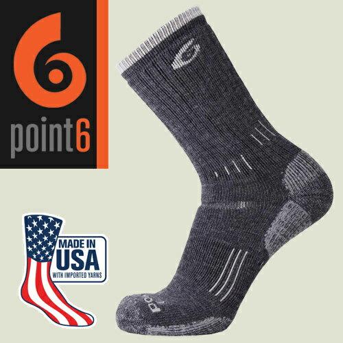 【Point6美國】hikingessential健行羊毛襪美麗諾羊毛襪運動襪登山襪戶外襪/2530-200