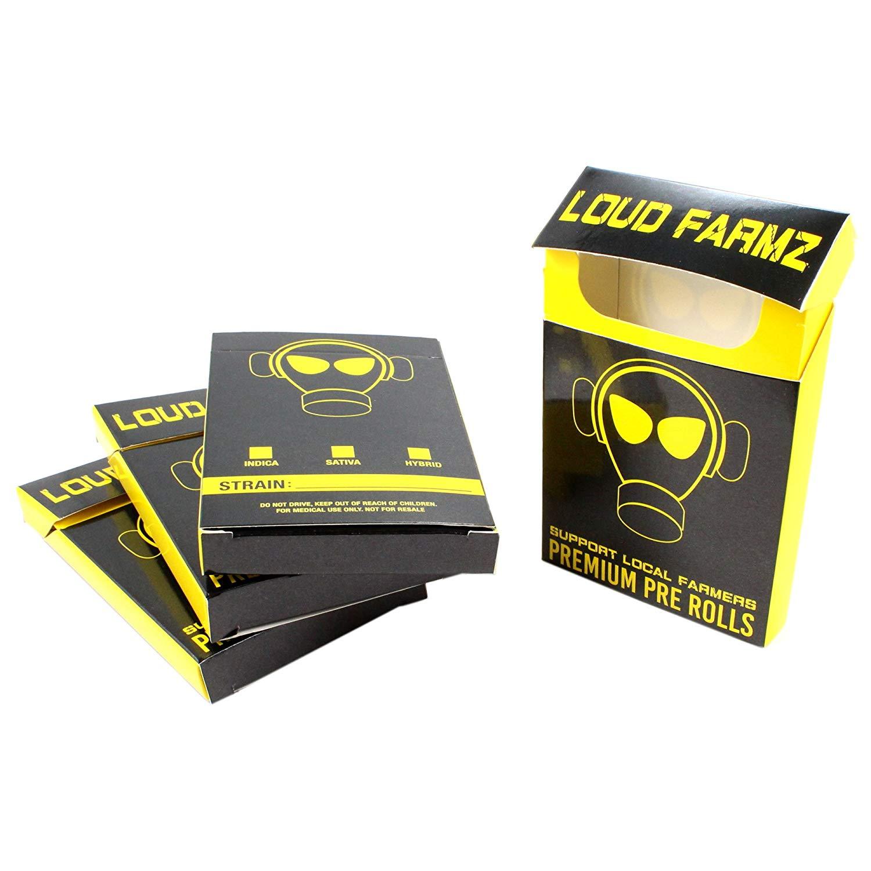 Loud Farmz EMPTY Pre-roll Boxes Dispensary Supplies Cann abis Display  Packaging PRB-001