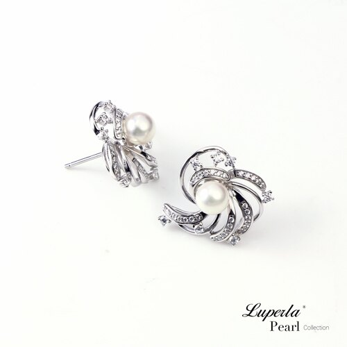 大東山珠寶 燦若繁星 日本AKOYA天然海水珍珠純銀晶鑽耳環 3