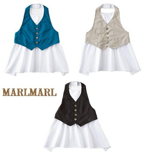 日本【MARLMARL】garcon兒童圍裙圍兜(80~90cm) - 限時優惠好康折扣