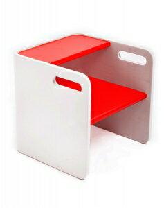 美國【Bloom】3合1台階凳 (白-紅) - 限時優惠好康折扣