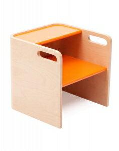 美國【Bloom】3合1台階凳 (原木-橘) - 限時優惠好康折扣