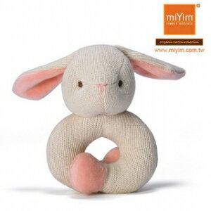 美國~miYim~有機棉咬咬牙手圈圈款^(手環~兔兔^)