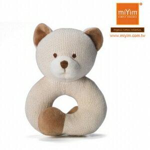 美國【miYim】有機棉咬咬牙手圈圈款(手環-小熊) - 限時優惠好康折扣
