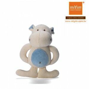 美國【miYim】有機棉咬咬牙娃娃禮盒(一入-河馬)
