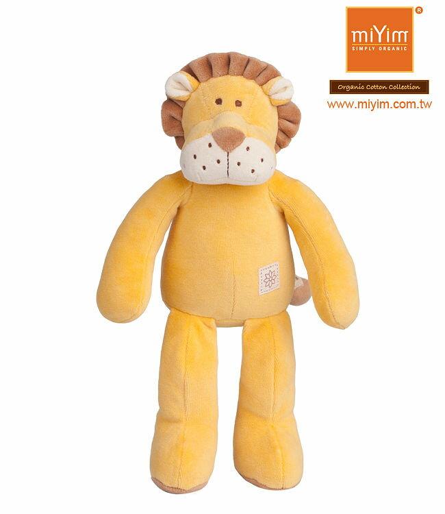 美國【miYim】有機棉安撫娃娃 32cm(里歐獅子)